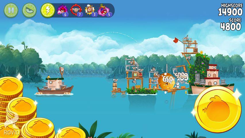 Скачать Angry birds: Rio на Андроид — Мод безлимитные предметы screen 2