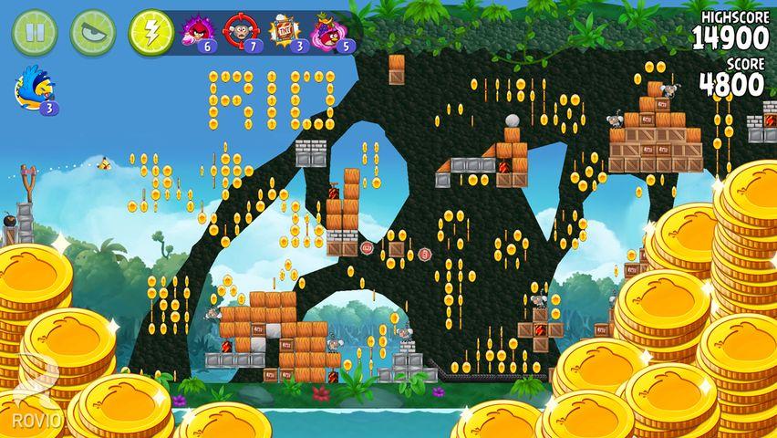 Скачать Angry birds: Rio на Андроид — Мод безлимитные предметы screen 3
