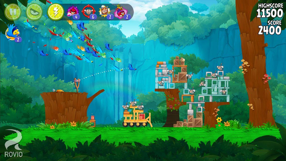 Скачать Angry birds: Rio на Андроид — Мод безлимитные предметы screen 1