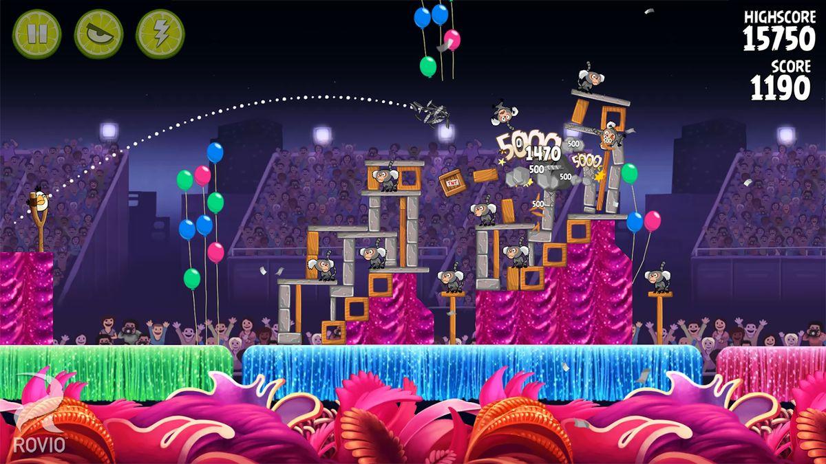 Скачать Angry birds: Rio на Андроид — Мод безлимитные предметы screen 4