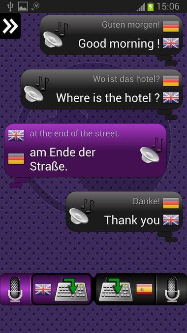 Скачать Переводчик для разговоров на Андроид screen 4