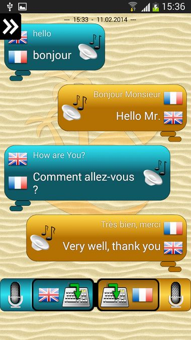 Скачать Переводчик для разговоров на Андроид screen 1