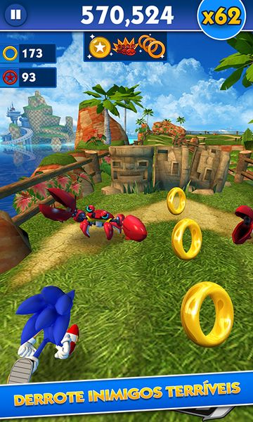 Скачать Sonic Dash на Андроид — Мод все персонажи screen 1