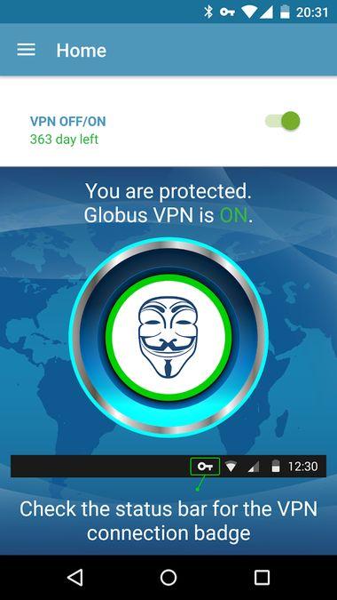 Скачать VPN Globus Pro на Андроид screen 1