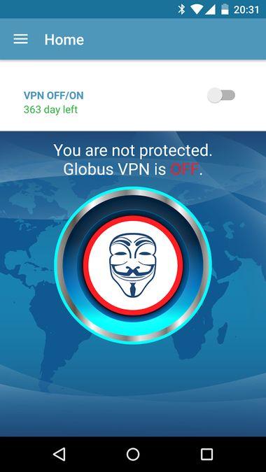 Скачать VPN Globus Pro на Андроид screen 2