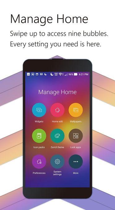 Скачать ZenUI Launcher на Андроид — Русская версия screen 1