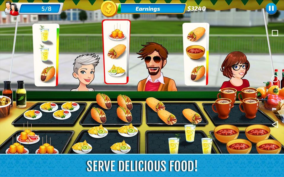 Скачать Food Truck Rush Drive & Serve на Андроид screen 3