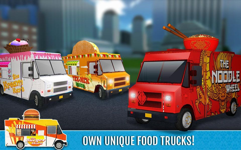 Скачать Food Truck Rush Drive & Serve на Андроид screen 1