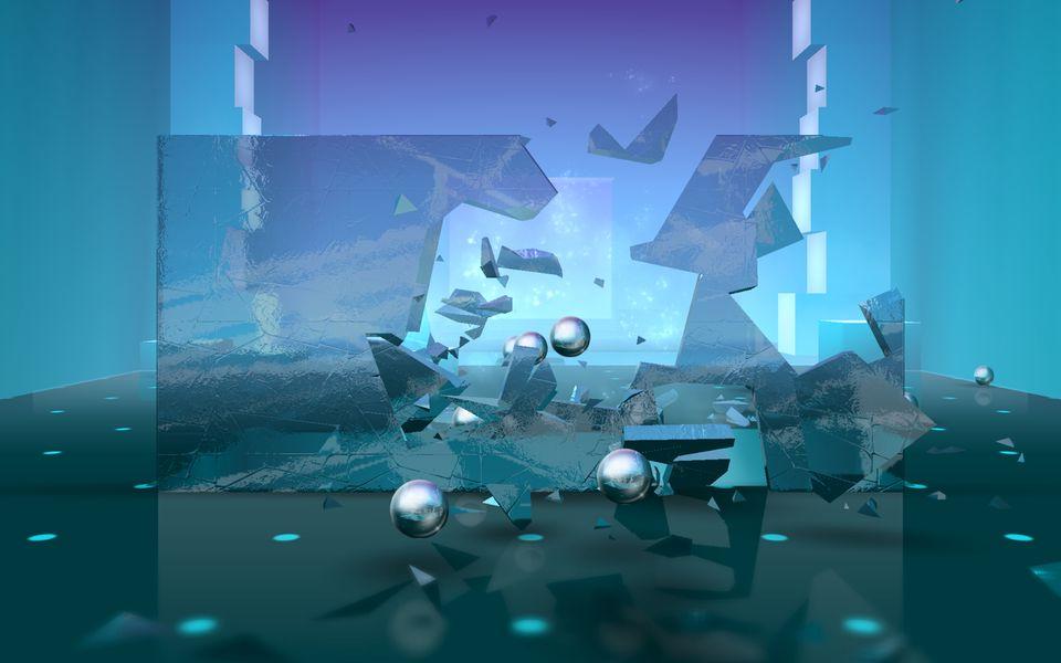 Скачать Smash Hit на Андроид — Мод много шаров screen 1