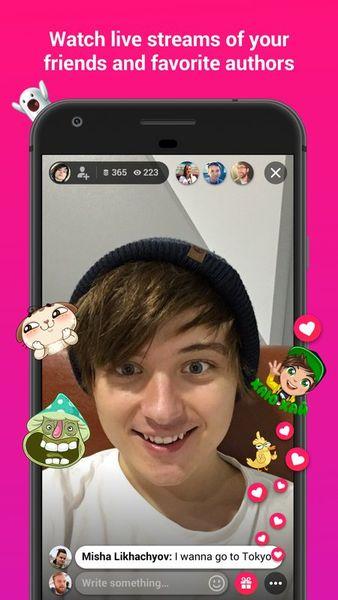 Скачать Vk Live на Андроид screen 1