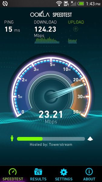 Скачать Speedtest.net на Андроид screen 1