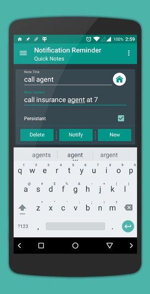 Скачать Quick Reminder на Андроид screen 1
