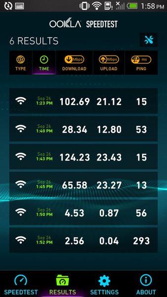 Скачать Speedtest.net на Андроид screen 2