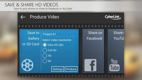 Скачать Видеоредактор PowerDirector на Андроид — Полная версия screen 3