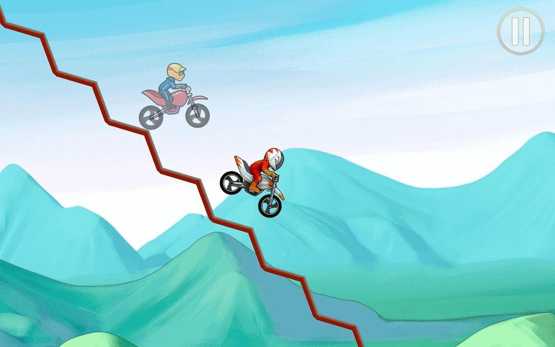 Скачать Bike Race на Андроид — Мод открытые уровни screen 1
