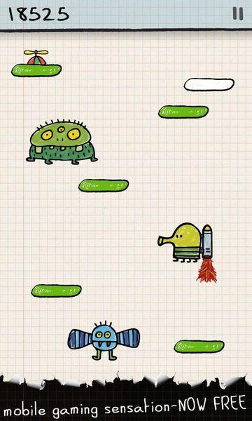 Скачать Doodle jump на Андроид — Мод много монет screen 3