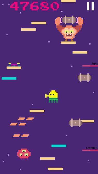 Скачать Doodle jump на Андроид — Мод много монет screen 4