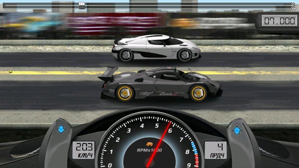 Скачать Drag Racing Classic на Андроид — Мод много денег screen 4