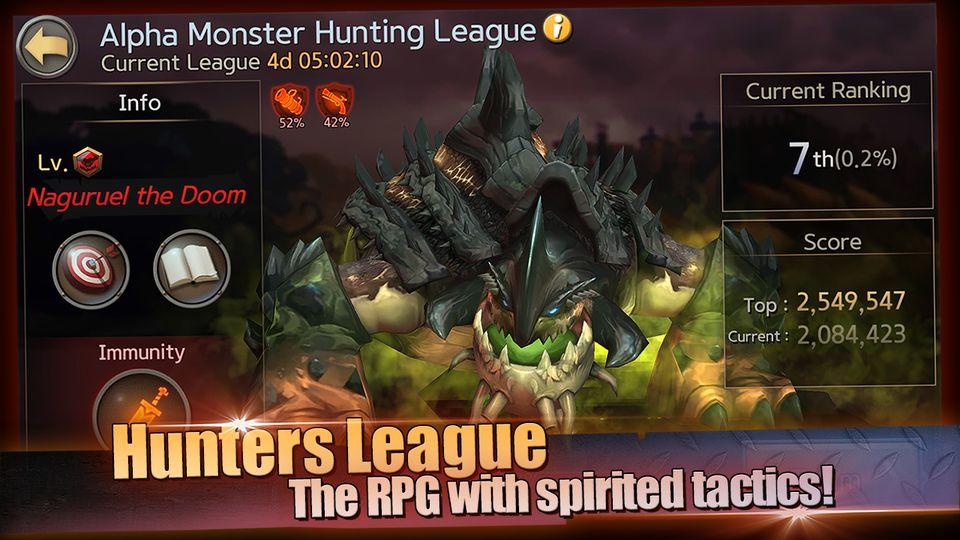 Скачать Hunters League : The story of weapon masters на Андроид screen 3