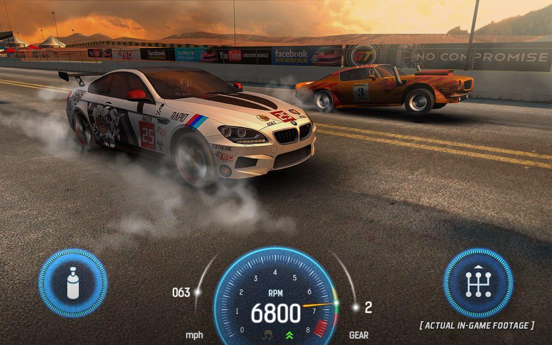 Скачать Nitro Nation Drag Racing на Андроид — Мод облегченная игра screen 1