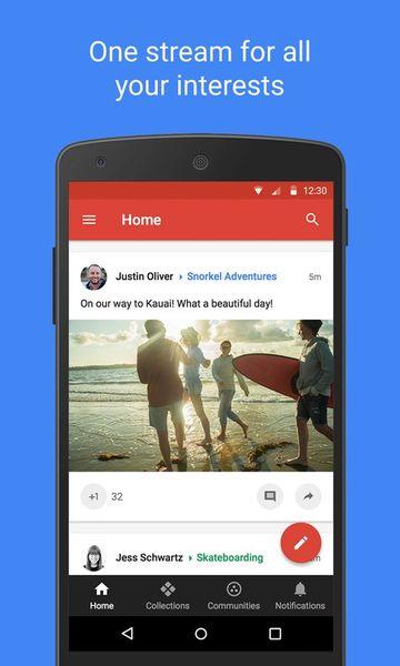 Скачать Google+ на Андроид screen 1