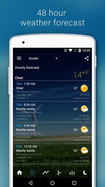 Скачать Прозрачные часы и погода на Андроид screen 2