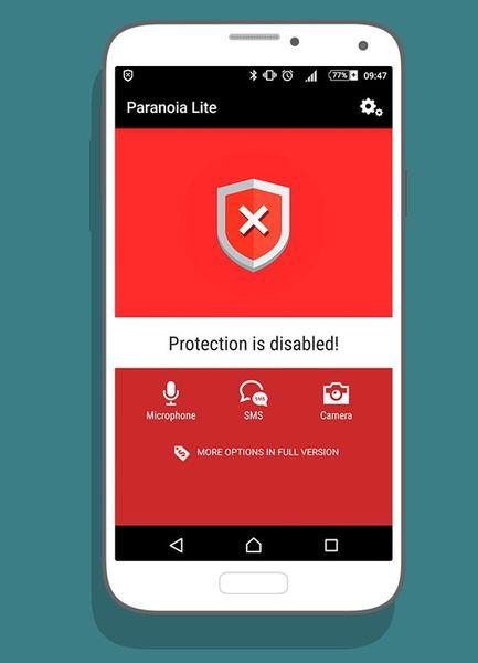 Скачать Paranoia: Антишпион на Андроид — Light версия screen 1