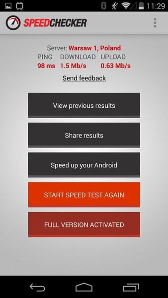 Скачать Тест на скорость на Андроид screen 2