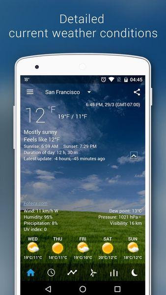 Скачать Прозрачные часы и погода на Андроид screen 3