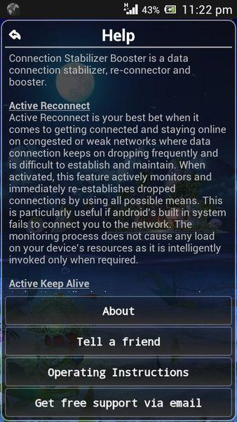 Скачать Connection Stabilizer Booster на Андроид screen 3