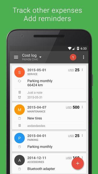 Скачать Fuelio: топливо и расходы на Андроид screen 2
