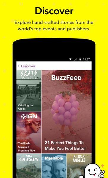 Скачать Snapchat на Андроид screen 4