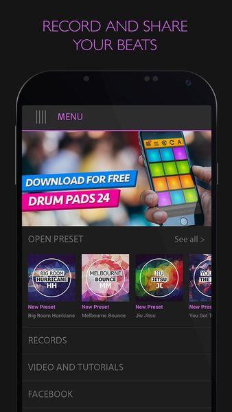 Скачать Electro Drum Pads 24 на Андроид screen 1