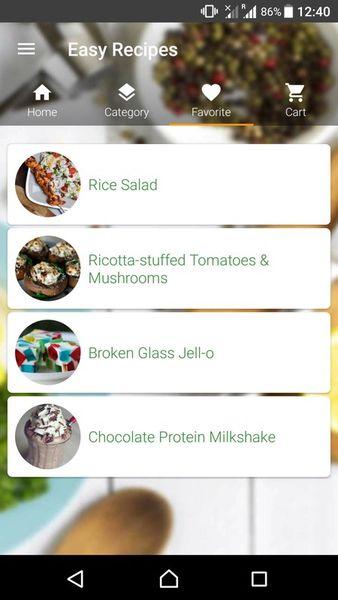 Скачать Простые рецепты на Андроид screen 3