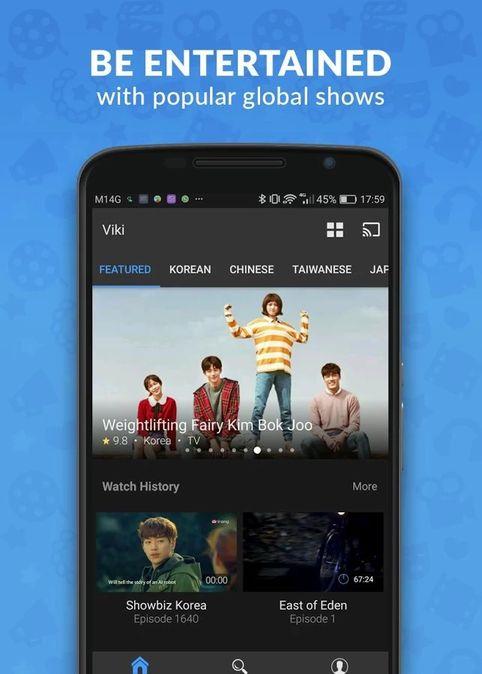 Скачать Viki: Телевизионные драмы и фильмы на Андроид screen 1