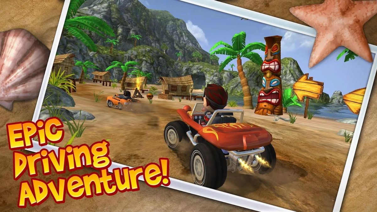 Скачать Beach Buggy Blitz на Андроид — Мод много монет screen 1