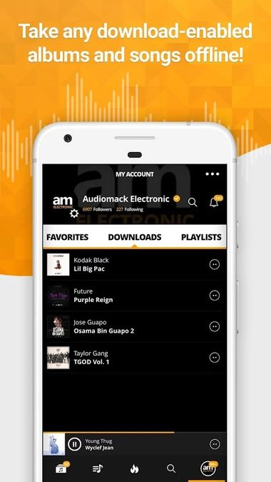 Скачать Audiomack на Андроид — Unlocked screen 1