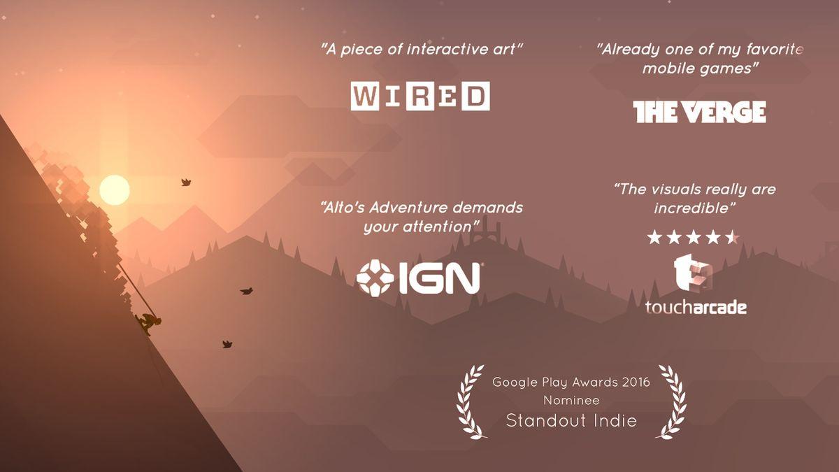 Скачать Alto's Adventure на Андроид — Мод чит меню screen 1
