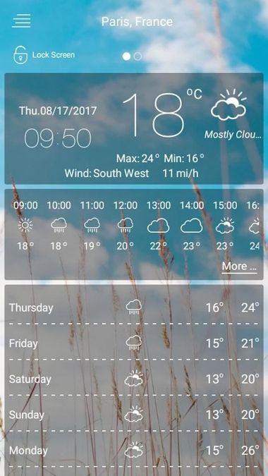 Скачать Погода — Русская Версия на Андроид screen 1