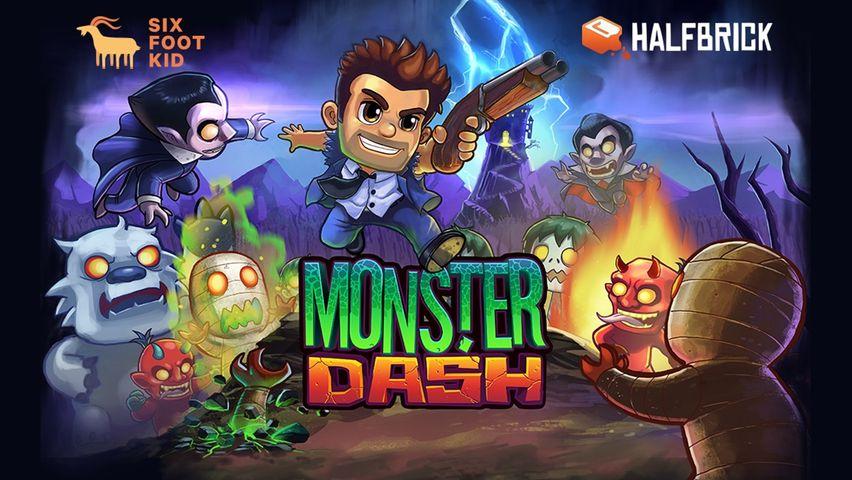 Скачать Monster Dash на Андроид — Мод свободные покупки screen 1