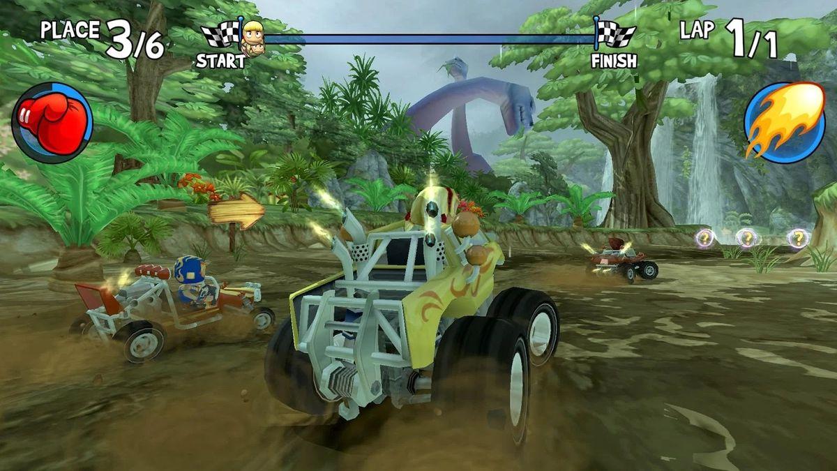 Скачать Beach Buggy Racing на Андроид — Мод много монет screen 2