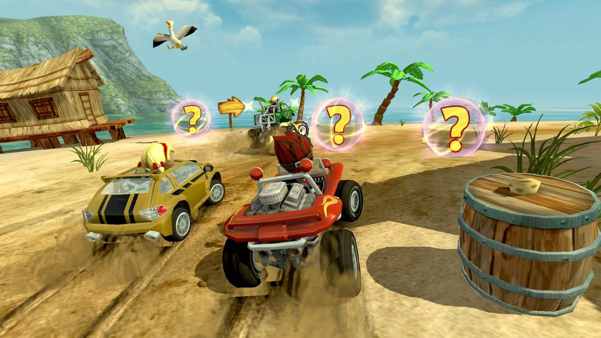 Скачать Beach Buggy Racing на Андроид — Мод много монет screen 3