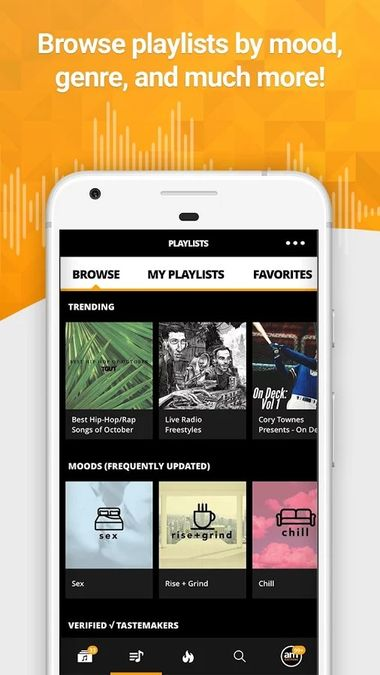 Скачать Audiomack на Андроид — Unlocked screen 3