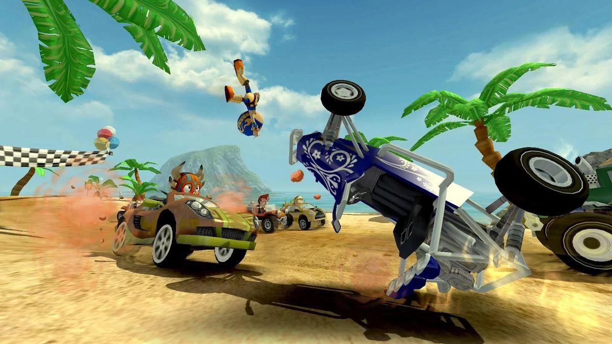Скачать Beach Buggy Racing на Андроид — Мод много монет screen 4