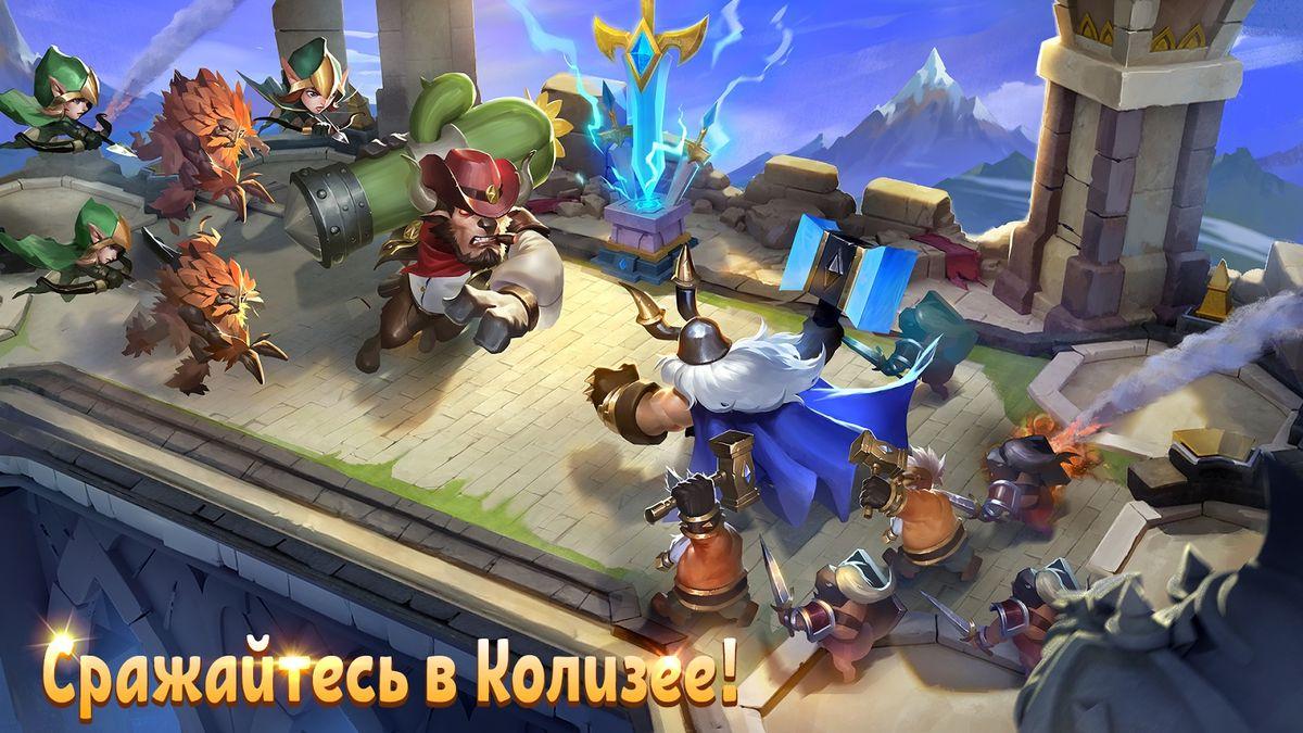 Скачать Castle Clash: Путь Храбрых на Андроид screen 4