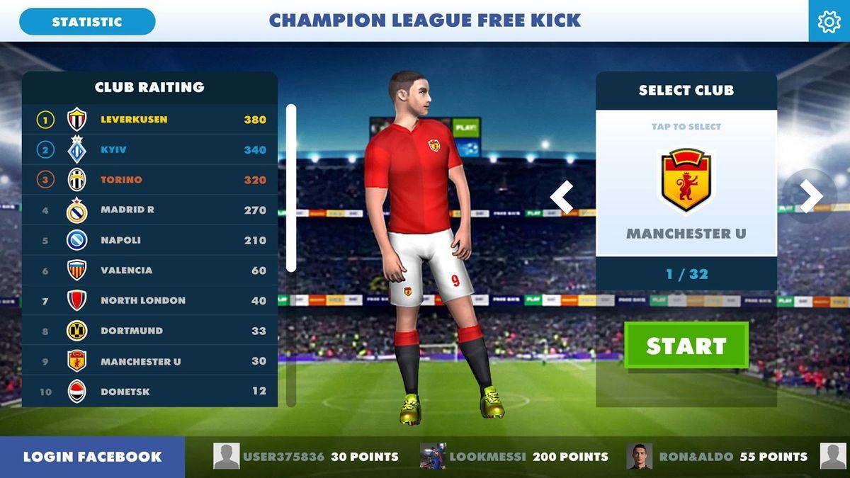 Скачать Football Champions Free Kick League 17 на Андроид screen 2