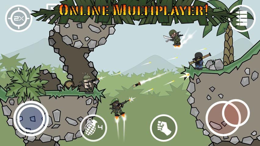 Скачать Doodle Army 2 : Mini Militia на Андроид — Мод все открыто screen 3
