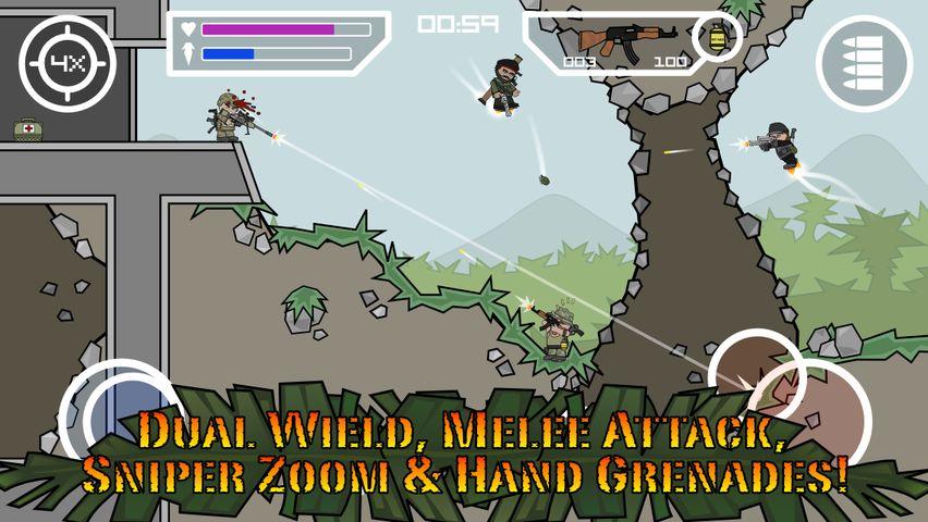 Скачать Doodle Army 2 : Mini Militia на Андроид — Мод все открыто screen 2
