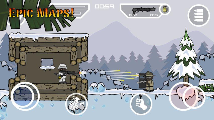 Скачать Doodle Army 2 : Mini Militia на Андроид — Мод все открыто screen 1