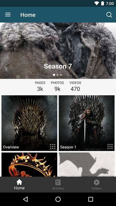 Скачать FANDOM for: GoT TV series на Андроид screen 2